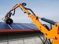 Braccio estendibile per la pulizia pannelli fotovoltaici