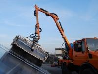 Braccio estendibile per pulizia pannelli solari