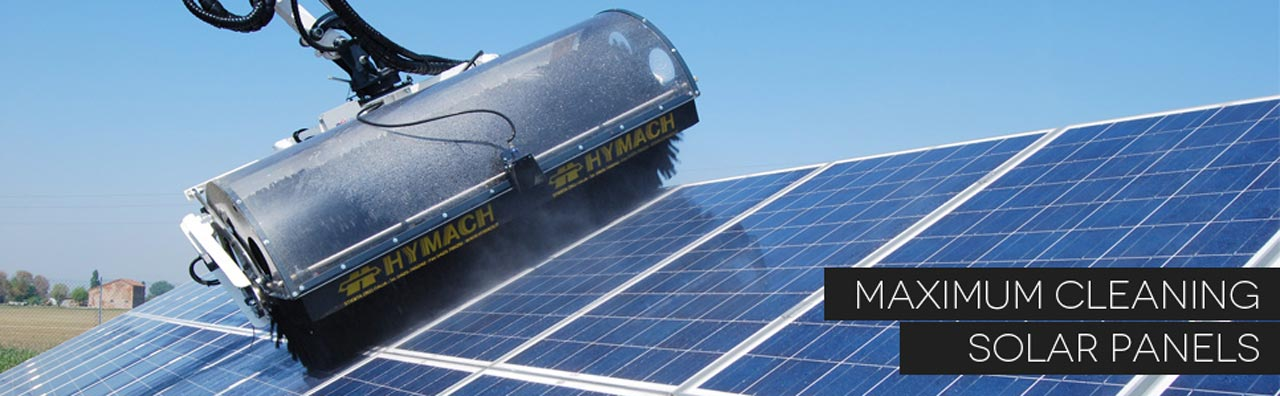 Cleaning of solar panels with SolarClean